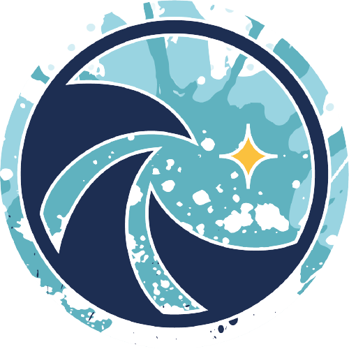 Logo surf excellence fond bleu