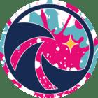 Pictogramme vague de surf rose
